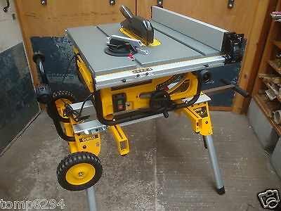 "Brand New Dewalt 110V Dw745 250Mm 10"" Portable Table Saw + De7400 Rolling Stand"
