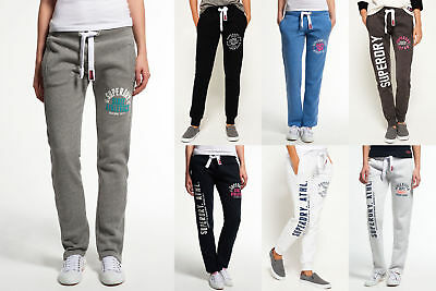 New Womens Superdry Joggers Selection - Various Styles & Colours 1209