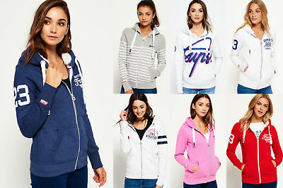 New Womens Superdry Hoodies Selection - Various Styles & Colours 1209