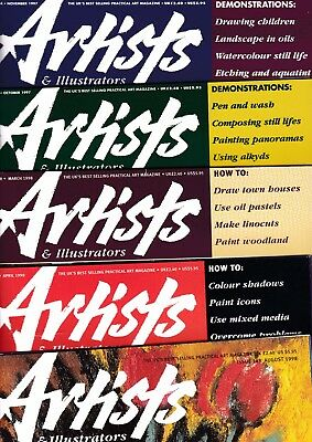 Various Issues of ARTISTS & ILLUSTRATORS Magazine October 1997 to June 2010
