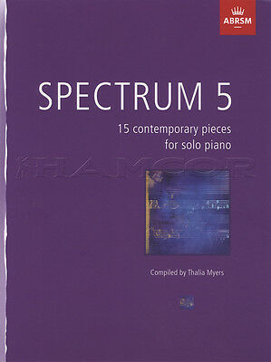 Spectrum 5 for Piano Sheet Music Book 15 Contemporary Pieces Solo Thalia Myers