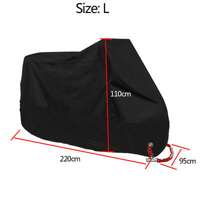 Waterproof Motorbike Dustproof Cover All Weather UV Protection Storage Shelter L