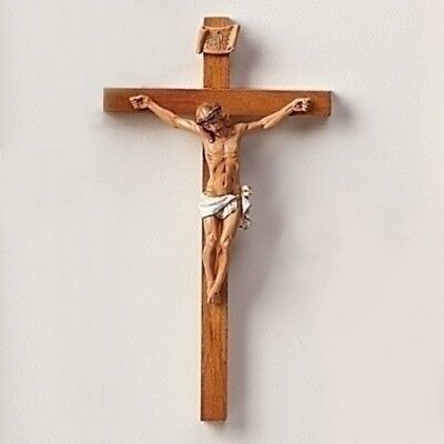 Fontanini Woodstone Crucifix Made in Italy 12 Inch Christ on Wood Cross