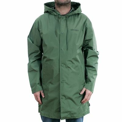 Stussy Tony Long Hooded Coach Jacket Olive Coat New In Official Stockist BNWT