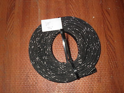 Yacht Grade 30′ 3/4″ Expandable Braid Braided Wire Cable Loom Sleeve Sleeving