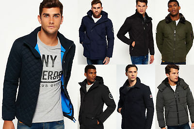 New Mens Superdry Jackets Selection - Various Styles & Colours 1509