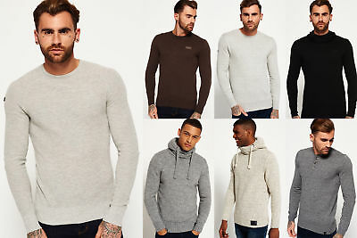 New Mens Superdry Knitwear Selection - Various Styles & Colours 1509