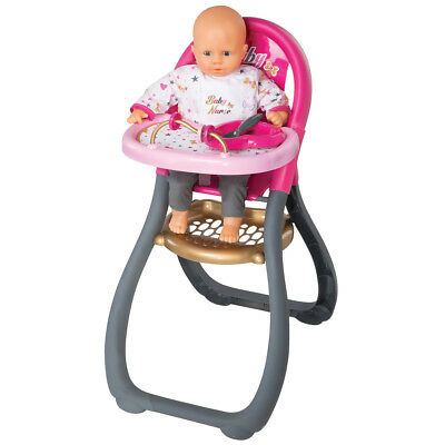 Children's Smoby Baby Nurse High Chair Heart Spoon Heart Plate Storage Space