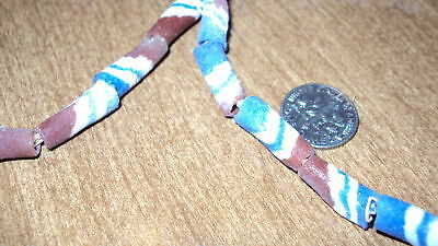 STRAND 13 SAND CAST AFRICAN TRADE BEADS african art jewelry