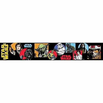 Star Wars Cartoon Self Adhesive Wallpaper Border 5M Kids Bedroom New Free P+P