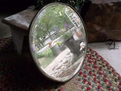 Heavy Rustic Primitive Antique Beveled Glass Mirror Wall Hanger or Vanity Tray