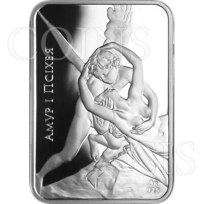 Belarus 2010 20 rubles Cupid and Psyche World of Sculpture Proof Silver Coin