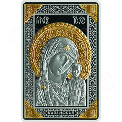 Belarus 2011 20 rubles Icon the Most Holy Theotokos of Kazan Proof Silver Coin