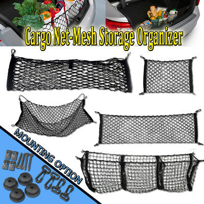 Zone Tech Car Trunk Elastic Mesh Net Cargo Organizer Holder Single 3 Pocket Auto