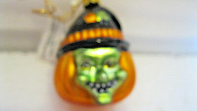 Hallmark MINI BLOWN GLASS Trimmer HALLOWEEN WITCH