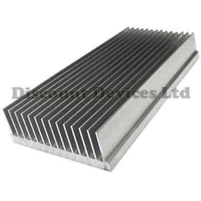 250x111x33mm Aluminium Heat Sink Power Amplifier/Supply/Transistor/IC/FET/PA