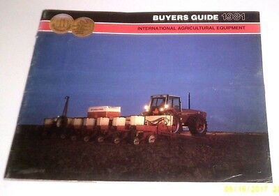 1981 International Tractor Combine + Equipment Buyers Guide Brochure Catalog