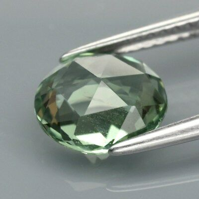 1.78ct 8x7.5mm Oval Rose-Cut Natural Unheated Green Tourmaline, Mozambique