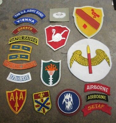 Small Lot of Vintage United States Military Patches Nice No Reserve Lot #8