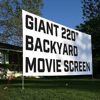 "Outdoor Movie Screen 16'x9' 220"" - Front or Rear Projection - FREE SHIPPING"