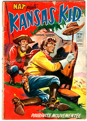 NAT PRESENTE : KANSAS KID n°66 ¤ 1956 ¤ PERIODIQUES EDITIONS ILLUSTREES