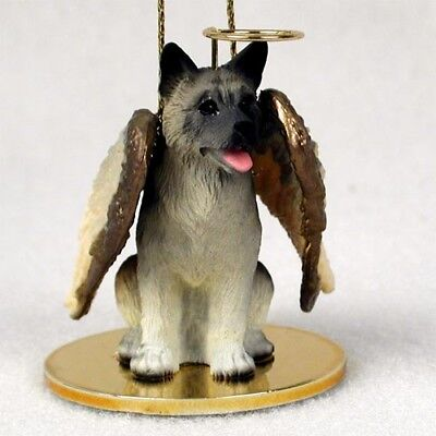 Akita Gray Dog ANGEL Tiny One Ornament Figurine Statue