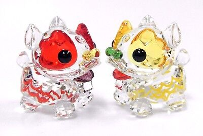 Dancing Lions Chinese Symbol Good Luck Fortune 2017 Swarovski Crystal 5302563