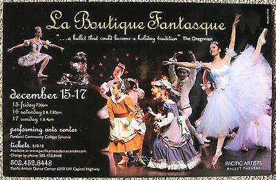 PACIFIC ARTISTS BALLET THEATRE 2006 POSTER Portland Oregon La Boutique Fantasque