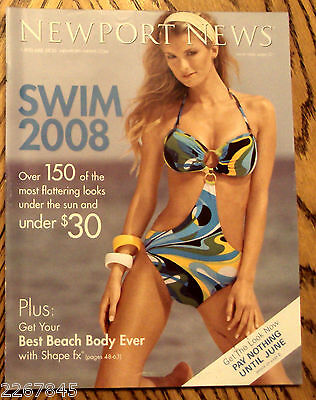 NEWPORT NEWS 2008 Swimsuit Catalog Jeanology Fashion Marissa Miller OOP Issue