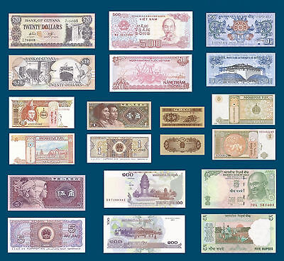 Banknotes World Currency Money (11) Bills Unc