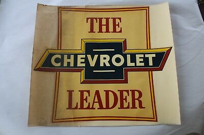 Vintage Chevy Chevrolet Leader Dealership Decal Sign 1952 Service Department NOS