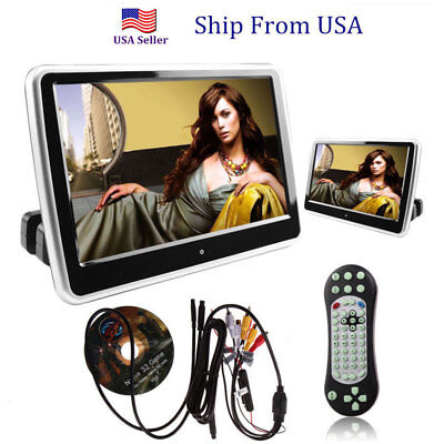 "10"" HDMI Car DVD Player Digital LCD Screen Headrest Monitor USB SD IR/FM US #cv"