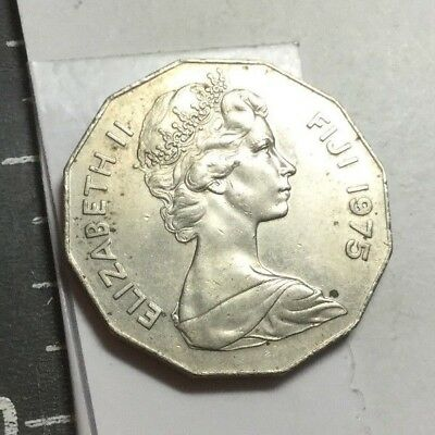 FIJI 1975 50 Cent coin about uncirculated