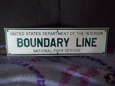 United States Department Of The InteriorBoundary Line National Park Service Sign