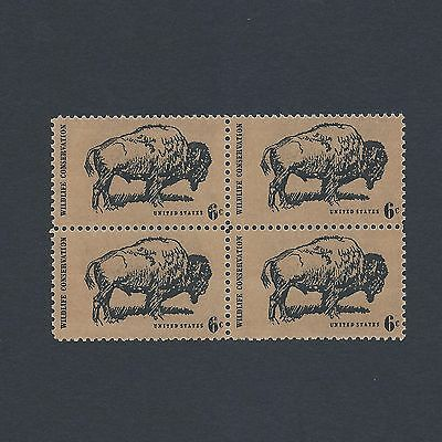 Wildlife Conservation: The Buffalo - Vintage Mint Set of 4 Stamps 47 Years Old!