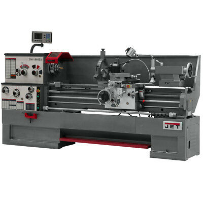 JET GH-1660ZX Large Spindle Bore Lathe With ACU-RITE VUE DRO w/ Taper Attachment