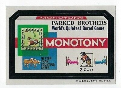 1974 Topps Wacky Packages 6th Series 6 MONOTONY BORED GAME nm- o/c