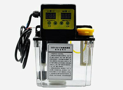 1.8L Dual Digital Display Automatic Electric Lubrication Pump Oiler NC Pump 110V