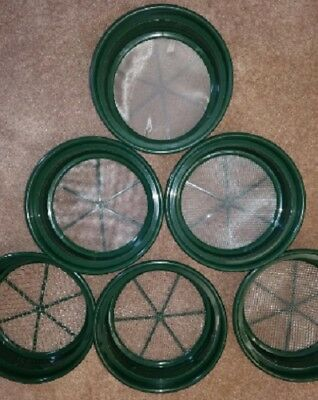 "SE GP2-5 SET 5-Piece Set of Patented 13-1/4"" Stackable Sifting Pans"