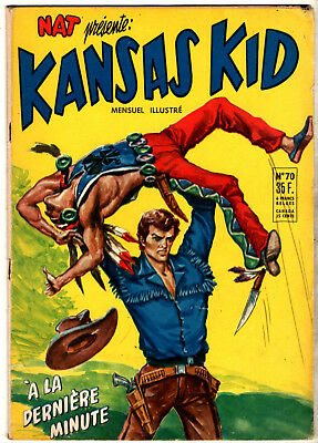 NAT PRESENTE : KANSAS KID n°70 ¤ 1956 ¤ PERIODIQUES EDITIONS ILLUSTREES