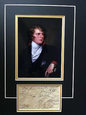 Augustus Frederick - Duke Of Sussex - Son Of George Iii - Signed Photo Display