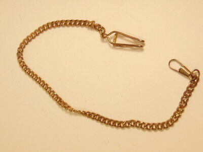 vintage heavy link man's gold plated watch chain