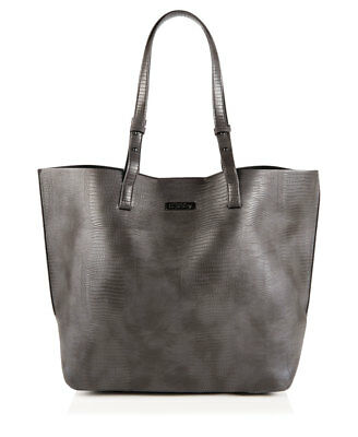 New Womens Superdry Olivia Tote Bag Charcoal