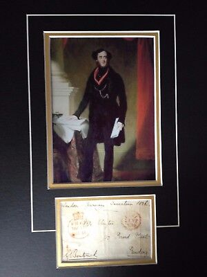 Lord George Bentinck - Army Officer & Famous Politician - Signed Photo Display