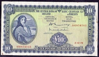 10 Pounds From Ireland 1976 The Central Bank Of Ireland