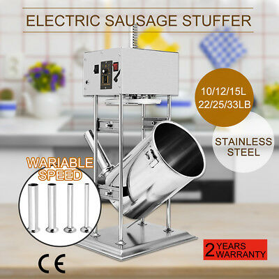 Commercial Electric Sausage Stuffer Stainless Steel Vertical Sausage Maker