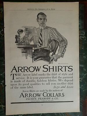 Leyendecker ad page for Arrow Shirts 1906
