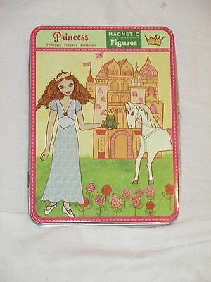 Pottery Barn Magnetic Figures Princess In Tin Like Paper Dolls Pretend Play