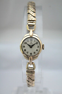 TUDOR by ROLEX - SOLID GOLD LADIES VINTAGE DECO WATCH - BEAUTIFUL! - NO RESERVE!