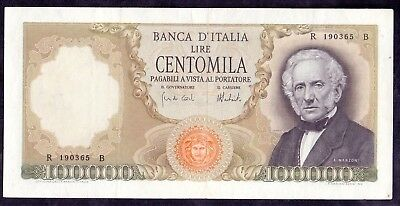 100000 Lire Manzoni From Italy 6.2.1974